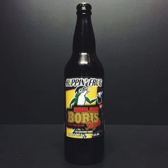 Hoppin Frog Barrel Aged Boris Royale Stout aged in Whiskey barrels. USA