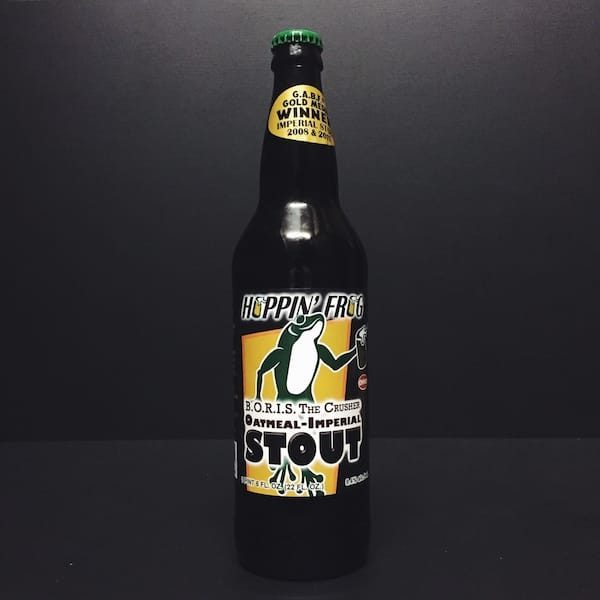 Hoppin Frog BORIS The Crusher Oatmeal Imperial Stout. USA Vegan friendly