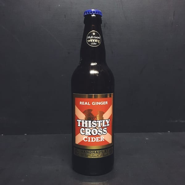 Thistly Cross Real Ginger Cider Scotland Vegan Friendly Gluten Free