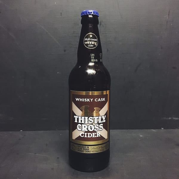Thistly Cross Whisky Cask Cider Scotland Vegan friendly gluten free