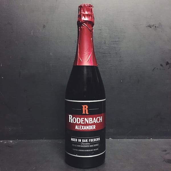 Rodenbach Alexander Flanders Red Sour Cherry Cherries Belgium vegan friendly.