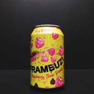 Tiny Rebel Frambuzi Raspberry Sour Framboise Wales Vegan friendly