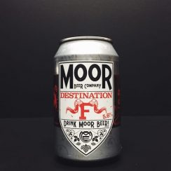 Moor Destination F Pale Ale brewed in Bristol.
