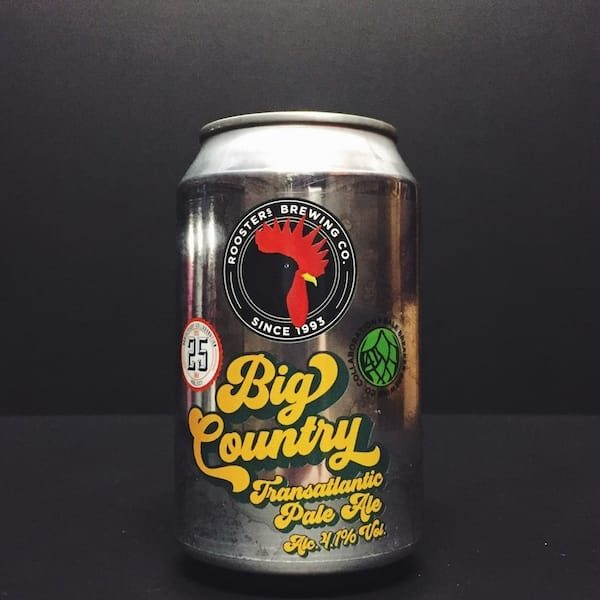 Roosters Big Country Transatlantic Pale Ale, Bale Breaker collab.Yorkshire Vegan friendly