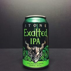 Stone Exalted Citra & Loral IPA. San Diego USA