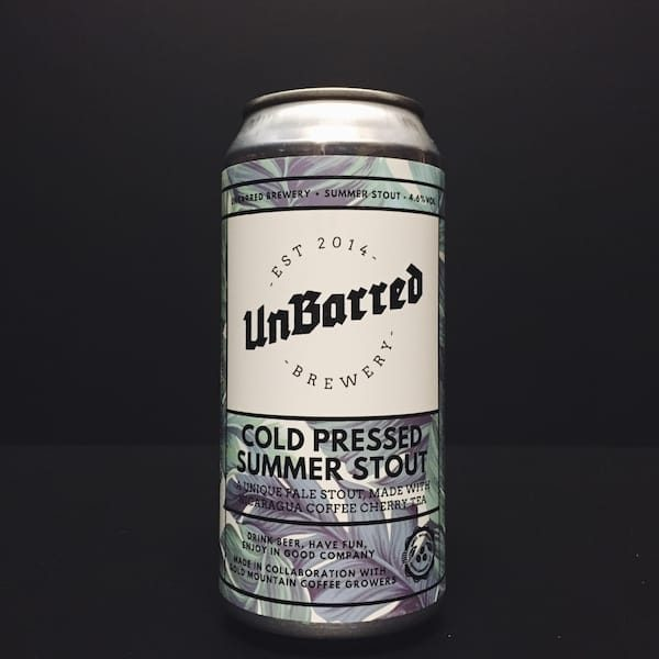 Unbarred Cold Pressed Summer Stout Sussex
