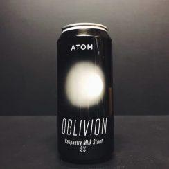 Atom Oblivion Raspberry Milk Stout Hull Raspberries