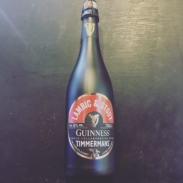 Timmermans Guinness Lambic & Stout Belgium collaboration