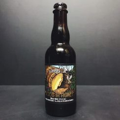 Jackie O's Wood Ya Honey Wheat Wine style ale brewed with honey & aged in Bourbon Barrels USA