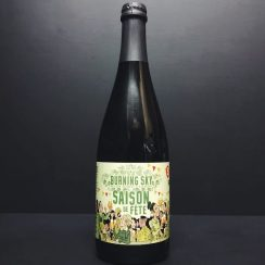 Burning Sky Saison de Fete Wine barrel aged Sussex vegan friendly