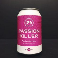 71 Brewing Passion Killer Passion Fruit Sour Scotland vegan friendly