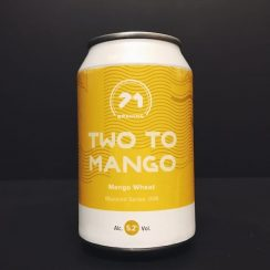 71 Brewing Two To Mango Wheat Beer Scotland vegan friendly