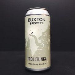 Buxton Brewery X Lervig Trolltunga Gooseberry Sour IPA Derbyshire collaboration vegan friendly