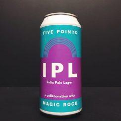 Five Points X Magic Rock Brewing IPL India Pale Lager London collaboration vegan friendly