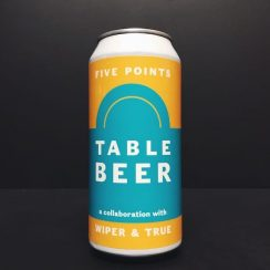 Five Points X Wiper and True Table Beer Amber Ale vegan friendly London collaboration