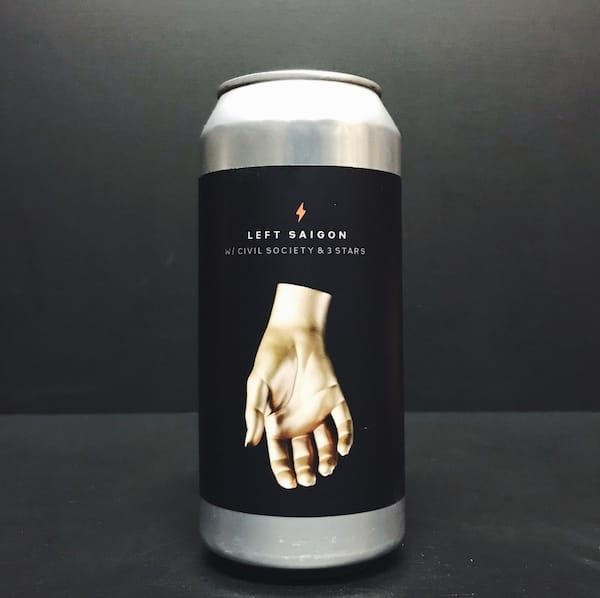 Garage Beer Co. Left Saigon Session New England IPA India Pale Ale collaboration with Civil Society and 3 Stars Brewing Barcelona Spain vegan friendly