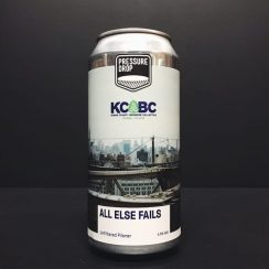 Pressure Drop X KCBC All Else Fails Unfiltered Pilsner vegan friendly London collaboration