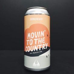 Shiny X Liquid Light Movin' To The Country Peach IPA collaboration Derby vegan friendly