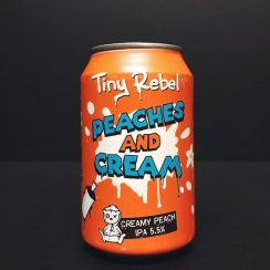 Tiny Rebel Peaches & Cream IPA India Pale Ale Wales