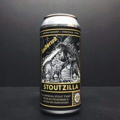 Unbarred Stoutzilla Imperial Stout With Coffee, Bourbon Barrels, Cocoa & Vanilla. Sussex vegan friendly