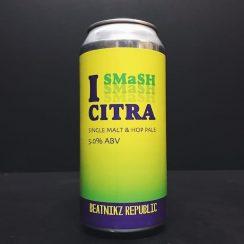 Beatnikz Republic I Smash Citra Single hop single malt pale ale Manchester vegan friendly