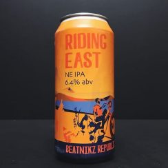 Beatnikz Republic Riding East DDH Double Dry Hopped NE IPA NEIPA New England India Pale Ale Manchester vegan friendly