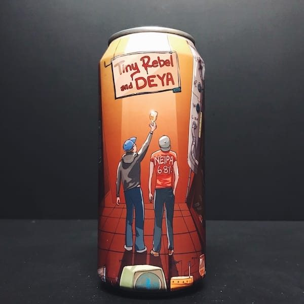 Tiny Rebel X Deya NEIPA 7th Birthday Collab Collaboration Vegan friendly New England IPA India Pale Ale Wales