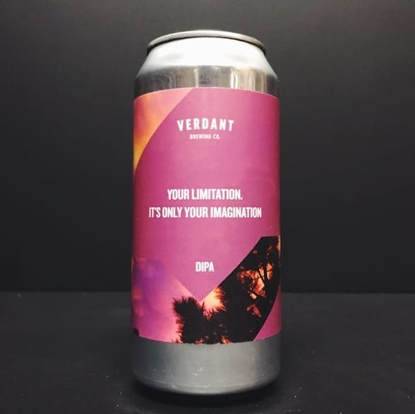 Verdant Your Limitation. It's Only Your Imagination Oat-Free DIPA Double IPA India Pale Ale Cornwall vegan friendly