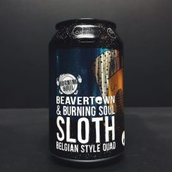 Beavertown X Burning Soul Sloth Belgian Style Quad collaboration London vegan friendly