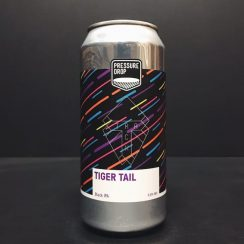 Pressure Drop Track Brew Co Tiger Tail Black IPA London collaboration vegan friendly