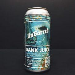 Unbarred Dank Juice Dank pale ale. Sussex vegan