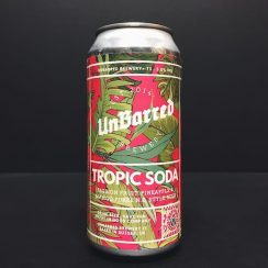 Unbarred Tropic Soda New England IPA with pineapple, passion fruit and mango Sussex
