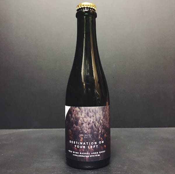 Track To OL Destination On Your Left Red Wine Barrel Aged Gose Manchester vegan