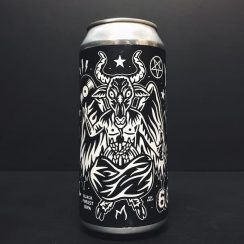 Black Iris Craftndraft Crypt of the Wizard Drink Beer Hail Satan IPA vegan