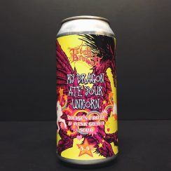 Totally Brewed My Dragon Ate Your Unicorn Dragonfruit & Pink Guava Sour Nottingham vegan