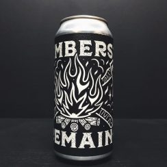 Black Iris Burning Soul Embers Remain Campfire Stout Nottingham collaboration vegan
