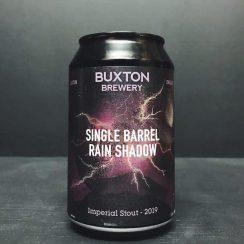 Buxton Single Barrel Rain Shadow 2019 Imperial Stout aged in Bourbon Barrels Derbyshire vegan