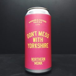 Northern Monk Dont Mess With Yorkshire Rhubarb & Custard Pale Ale Leeds vegan