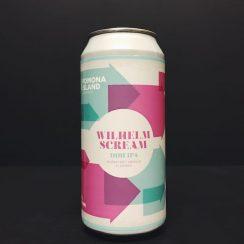 Pomona Island Wilhelm Scream. DDH IPA. Brewed with Ekuanot BBC, Amarillo & El Dorado hops. Vegan friendly. Salford