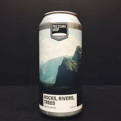 Pressure Drop Rocks Rivers Trees West Coast IPA London vegan