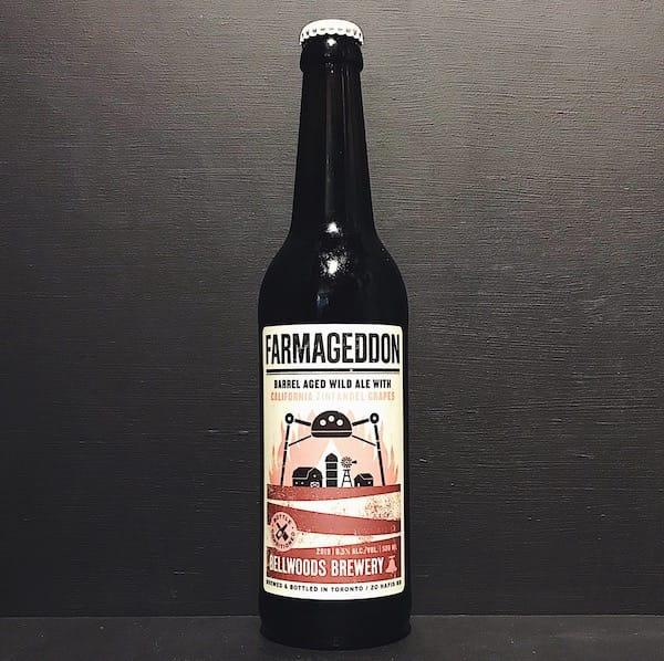 Bellwoods Farmageddon California Zinfandel Grapes 2019 Barrel Aged Wild Ale with California Zinfandel grapes. Canada vegan