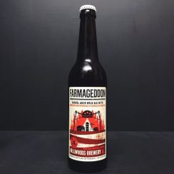 Bellwoods Farmageddon Niagara Montmorency Morello Cherries 2019 Barrel Aged Wild Ale with Niagara Montmorency & Morello Cherries. Canada vegan