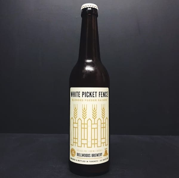 Bellwoods White Picket Fence Batch 3 Blended Foeder Saison. Canada vegan