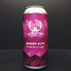 Glen Affric Berried Alive Mixed Berry Lager Birkenhead vegan