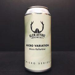 Glen Affric Micro Variation Micro Kellerbier lager Birkenhead vegan