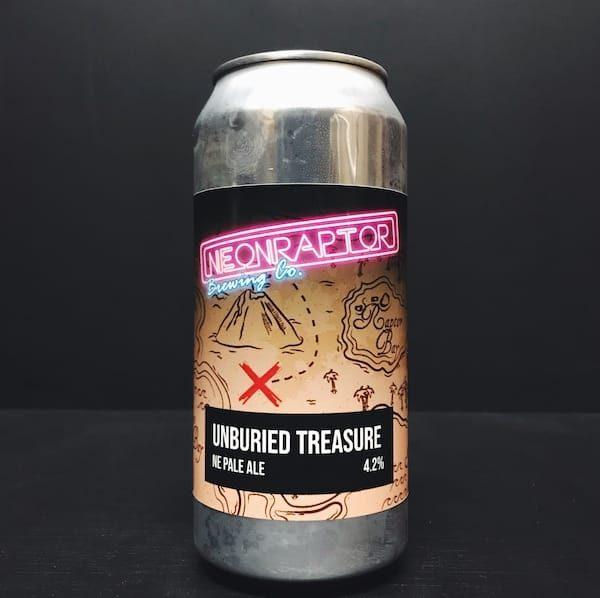 Neon Raptor Unburied Treasure NE Pale Ale Nottingham vegan
