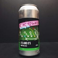 Neon Raptor Xs and Os DDH Pale Ale Nottingham vegan