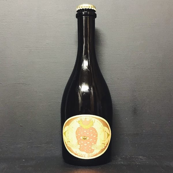 Jester King Omniscience & Proselytism Barrel Aged sour beer refermented with strawberries. USA vegan