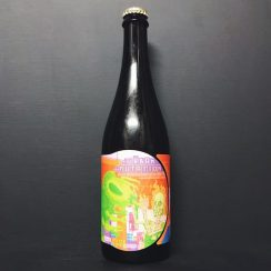 Jester King Urban Mutation Barrel Aged farmhouse beer refermented with hop infused honey. Collab with Other Half, NYC. USA