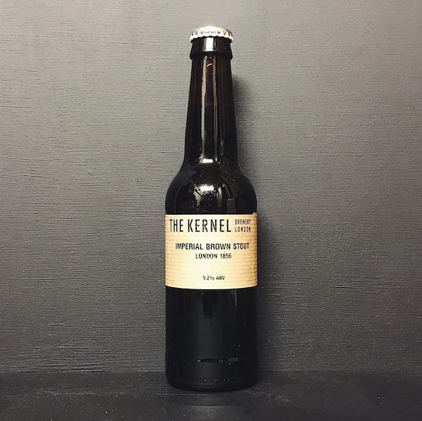 The Kernel Imperial Brown Stout London 1856 Vegan friendly.